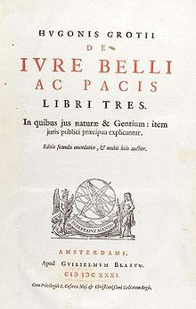 Hugo Grotius - Title page from the second edition (Amsterdam 1631) of De jure belli ac pacis