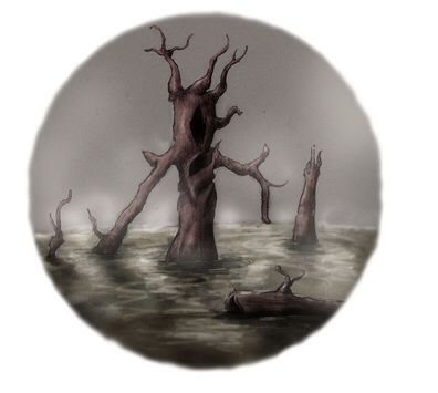 Hantu Air- Malaysian myth: malevolent river spirits that take the form of drifting branches. They paralyze those who disturb their domain.
