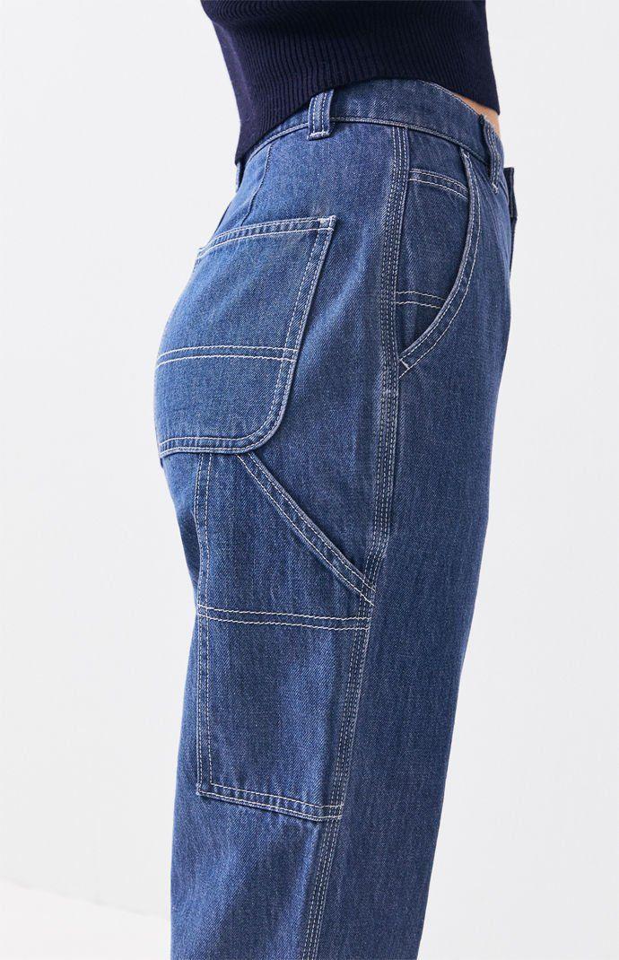 Ramp Blue Carpenter Mom Jeans Mom Jeans Jeans Classic Blue