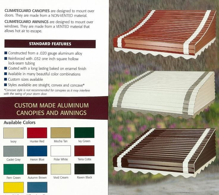 12 places to buy aluminum awnings -- including from three companies in business since 1946, 1947 and 1948 - Retro Renovation