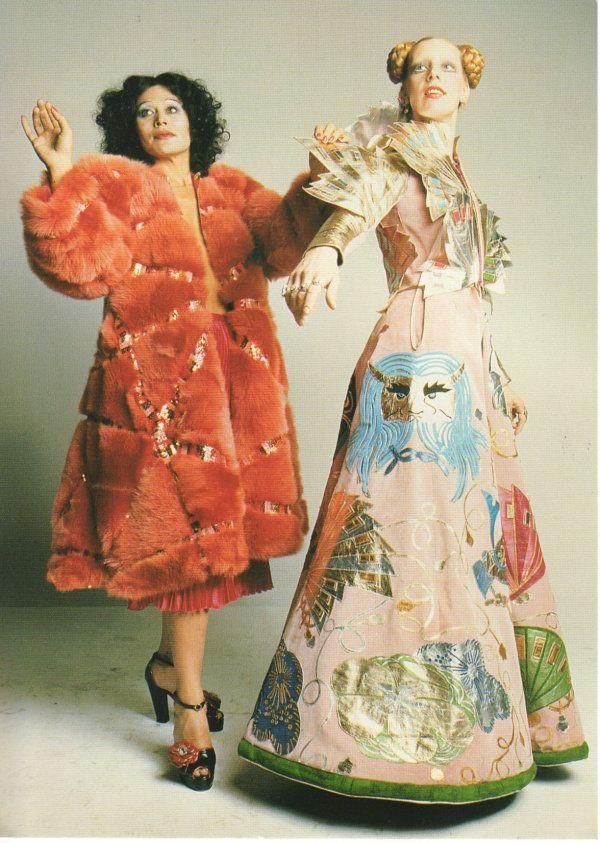 Fong Leng and Mathilde Willink both wearing Fong Leng couture, 1975