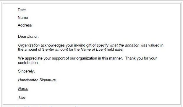 Donation Thank You Letter Template  Benefit    Receipt
