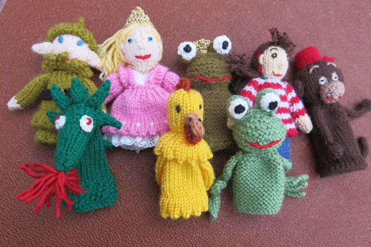 Knitting Patterns Toys Finger Puppets : 17 best images about ? Crochet Knit Finger Puppets ? on Pinterest Toys, Kni...