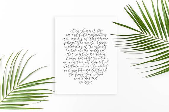 aw tozer / calligraphy print