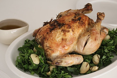 Julia Child's Herb Roasted Chicken from cat'stronomy blog