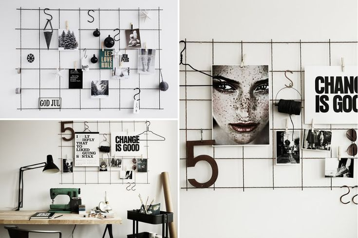 LOVE this! Rebar Bulletin Board - @Kerri Roy Elliott This would be so cool in your studio! : )
