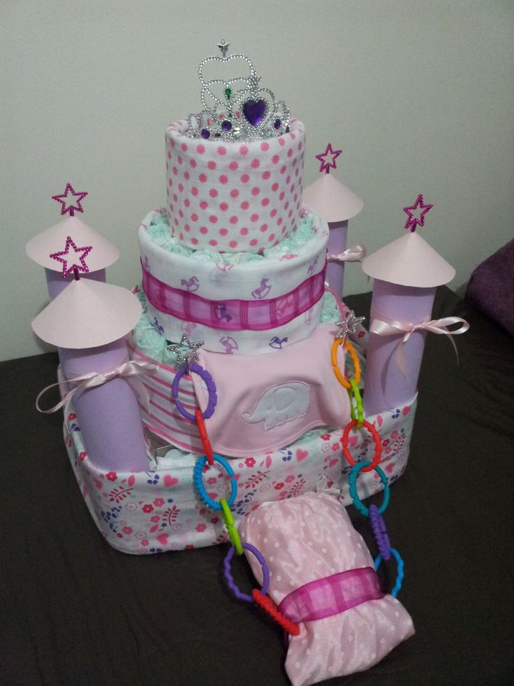 Castle Nappy Cake
