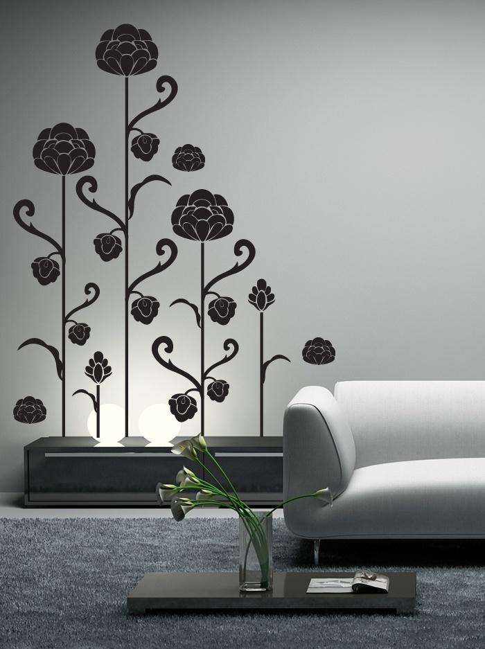 Un ensemble de stickers fleurs très graphique pour donner une touche zen à votre intérieur vente en ligne de stickers livraison sous