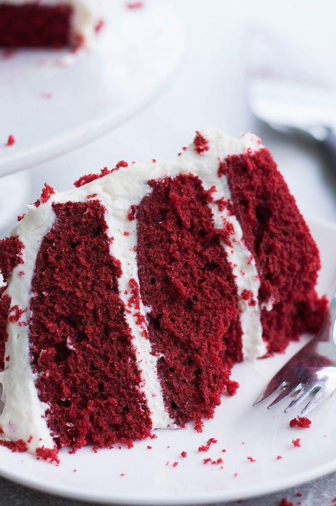 Moist Red Velvet Cake And Whipped Cream Cheese Frosting Recipe In 2020 Red Velvet Cake Whipped Cream Cheese Frosting Velvet Cake