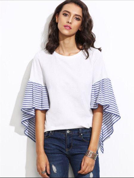 条纹长袖t恤_2017 春夏季新款 外贸条纹长袖t恤 女装 - 阿里巴巴