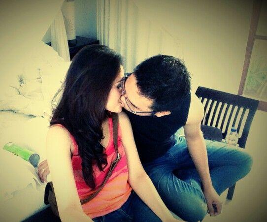 never ever bored to kiss u, honey!