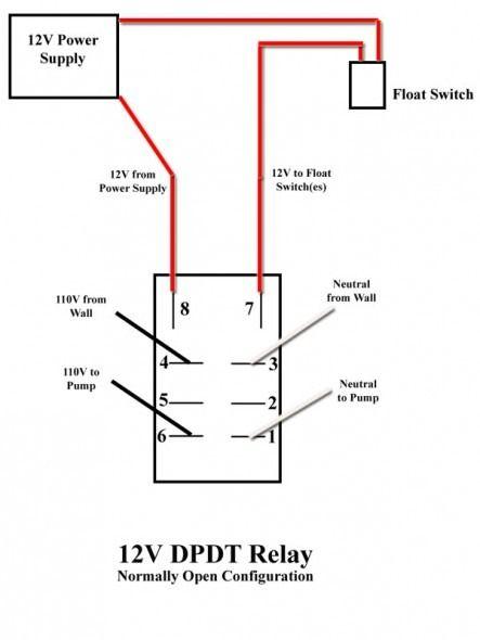Float Switch Dpdt Relay Wiring Diagram Wiring Diagram Database
