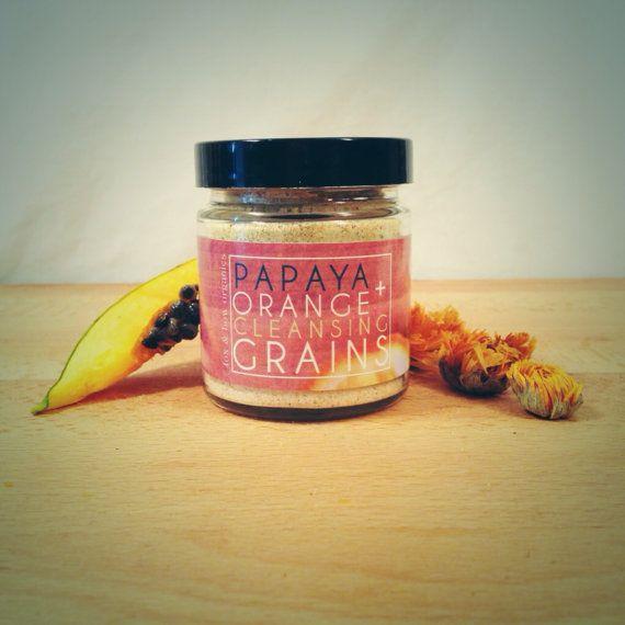 Green Papaya & Orange Peel Cleansing Grains by FoxandBowOrganics, $15.80