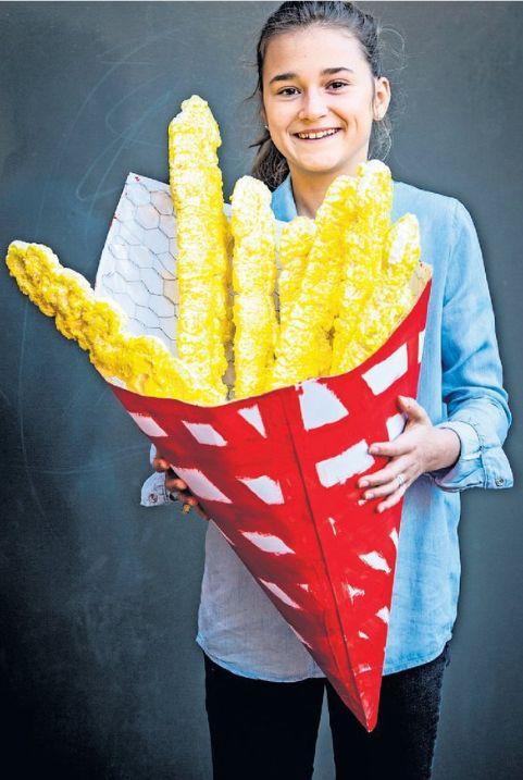 surprise puntzak frites| purschuim frites zak verstevigd met kippengaas