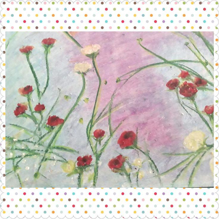 Sonata in March, oil pastel on paper, 20x30