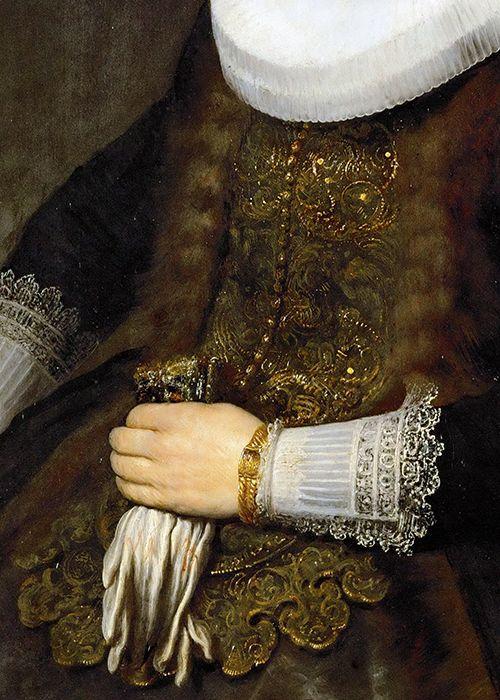 Portrait d'une femme, 1632 Rembrandt Détail