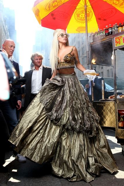 Lady Gaga posed at various locations around New York City for famed photographer Annie Leibovitz. Vanity Fair 2012.