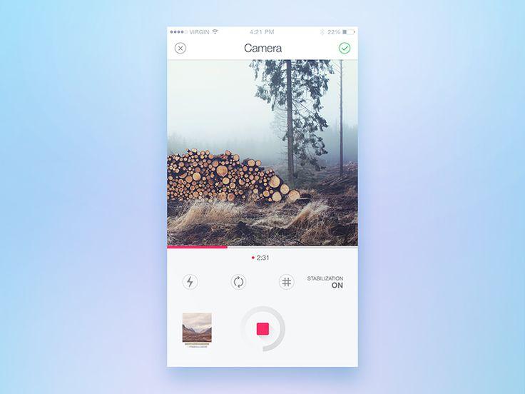 Camera Screen by Reznik #Design Popular #Dribbble #shots