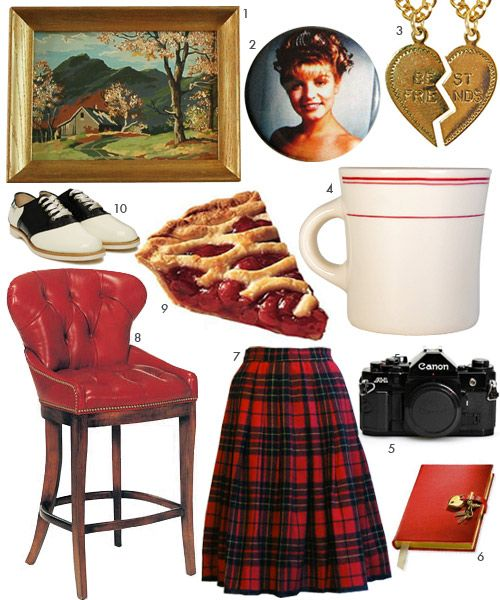 LIVING IN: TWIN PEAKS! Cherry pie, coffee, plaid skirts, saddle shoes and awkward landscape paintings...