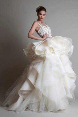 15 Wedding Dresses with Ruffles for Va-Va-Voom Brides   Here Comes the Bride   Pinterest   Wedding dresses, Wedding and Wedding gowns