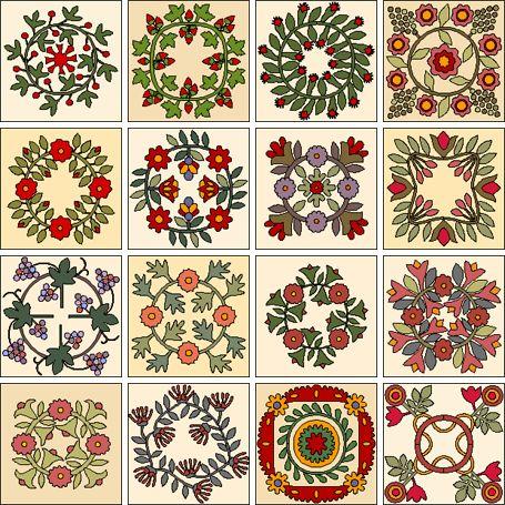 26 best Wreath appliqué blocks images on Pinterest | Appliques ... : applique quilt block patterns - Adamdwight.com