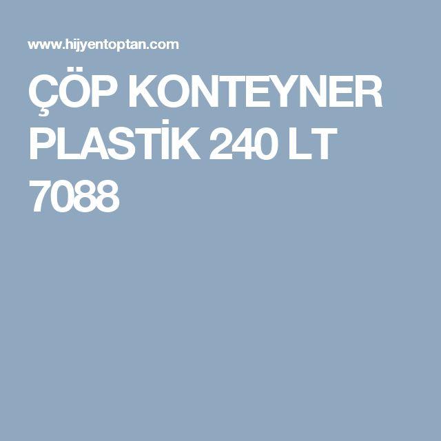 ÇÖP KONTEYNER PLASTİK 240 LT 7088
