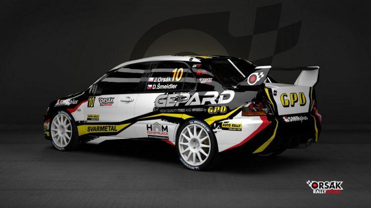 Orsák Rally Sport - J. Orsák (Mitsubishi Lancer Evo IX) - new design for 2013, first seen at Janner Rally 2013.