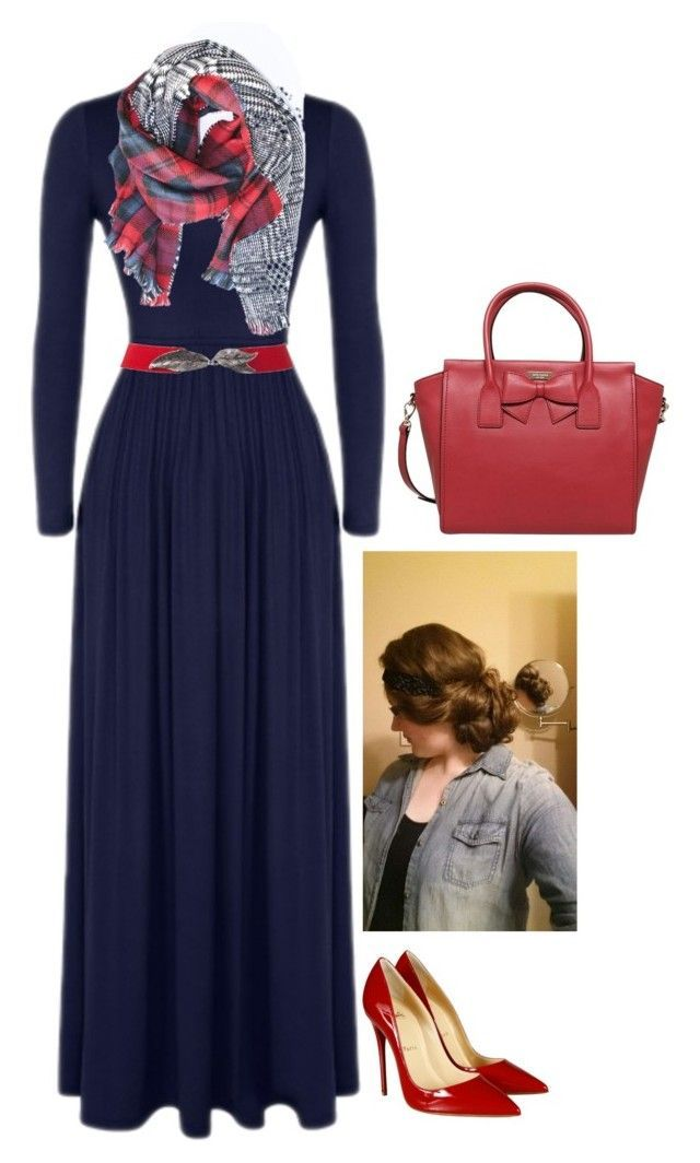 """Apostolic Fashion #97"" by carleemarlee35 ❤ liked on Polyvore featuring Christian Louboutin and Kate Spade"