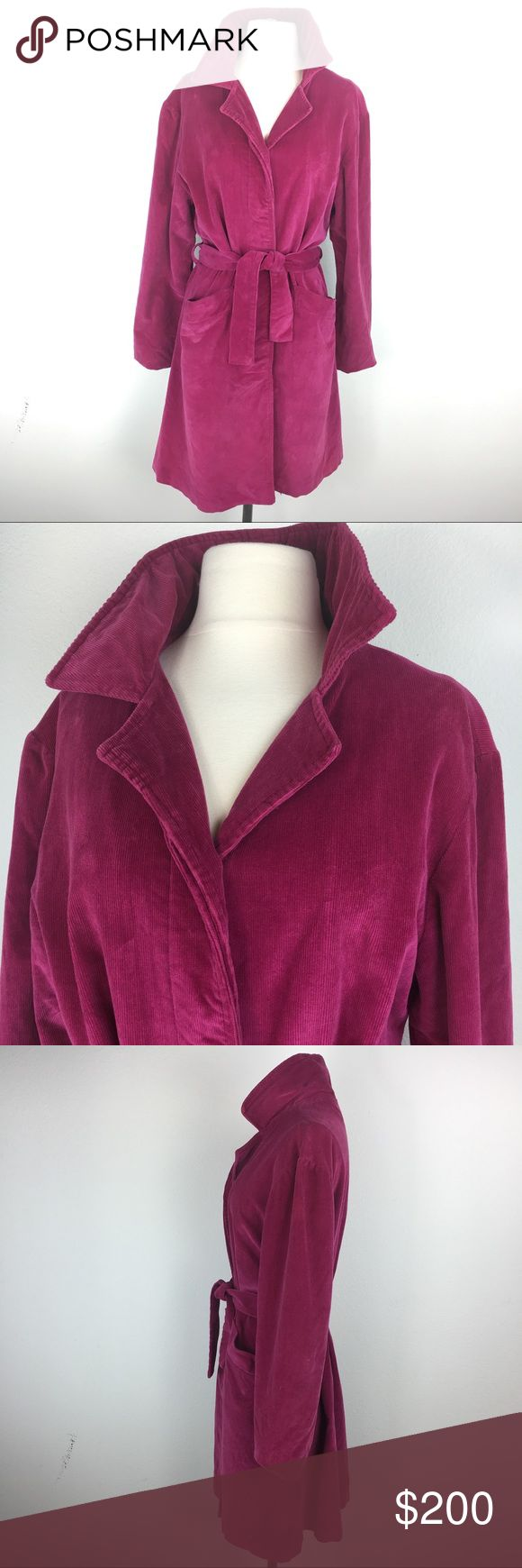 VINTAGE VERY RARE PIXIE YATES TRENCH COAT SZ M Fuchsia pink Corduroy Lined in pink this is the legend of Pixie Yates. google Her and see how rare this item really is. Early 90's. pixie yates Jackets & Coats