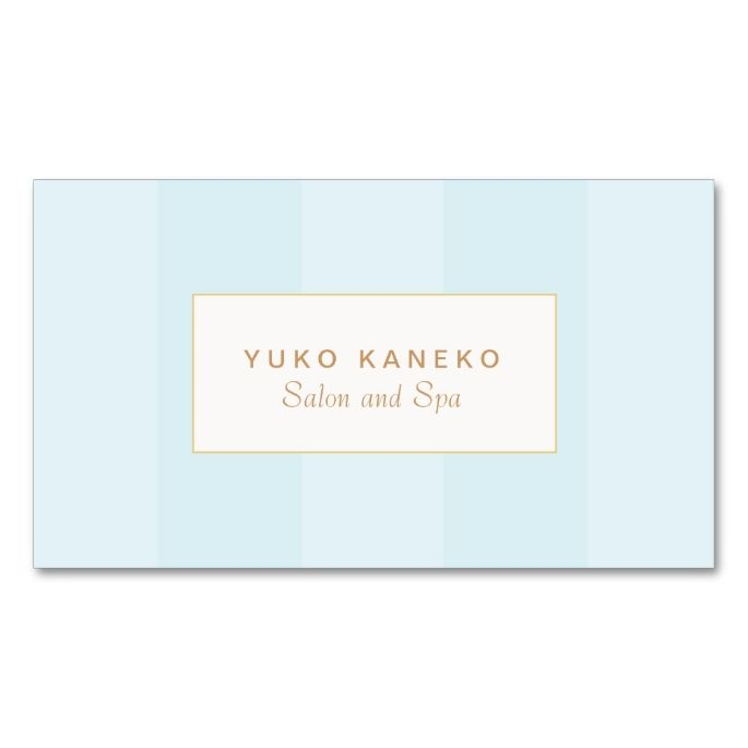 2141 best salon spa business cards images by modern design simple light turquoise blue striped elegant business card reheart Gallery
