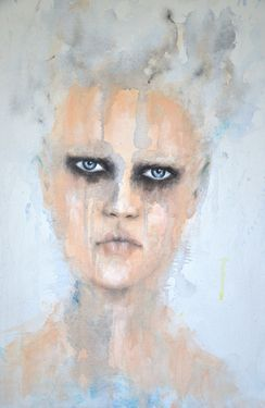"SOLD !! Saatchi Online Artist Fiona Maclean; Painting, ""Harlow - from The Beautiful Creatures series"" #art"