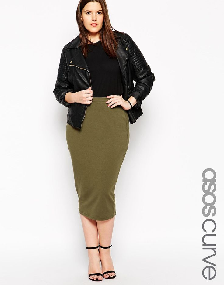 Immagine 1 di ASOS CURVE - Gonna longuette in jersey