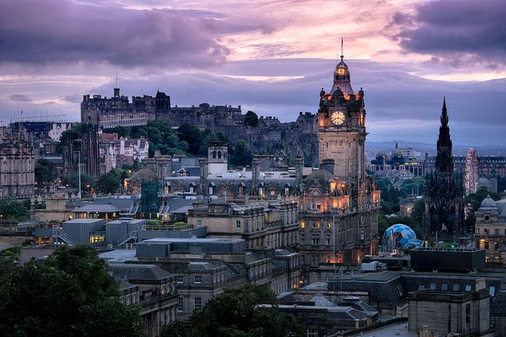 -Nightfall in Edinburgh- by Peter Spellerberg on 500px
