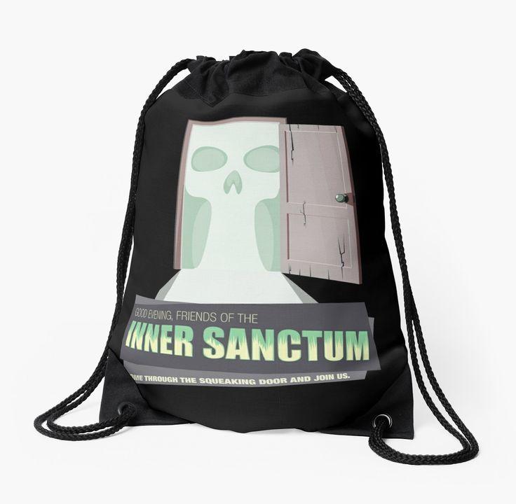 Inner Sanctum Drawstring Bag #drawstringbag #artistbag #backpack #OTR #oldtimeradio #innersactum #innersanctummysteries #radiodrama #radio