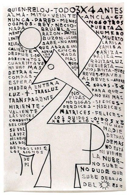 Héctor Ragni, Forma, 1936, Ink on paper, 7¾ x 5 in. 19,7 x 12,7 cm.