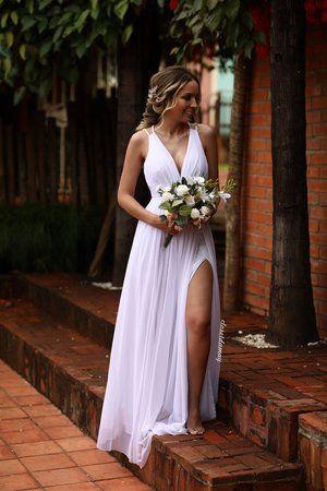 53ae72129 Vestido de noiva longo detalhes em macramê | Closet da May - closetdamay  loja de vestidos