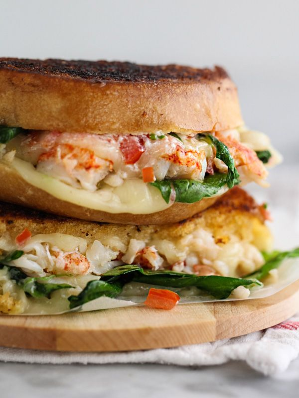 Kennebunkport Lobster Grilled Cheese Sandwich | Recipe