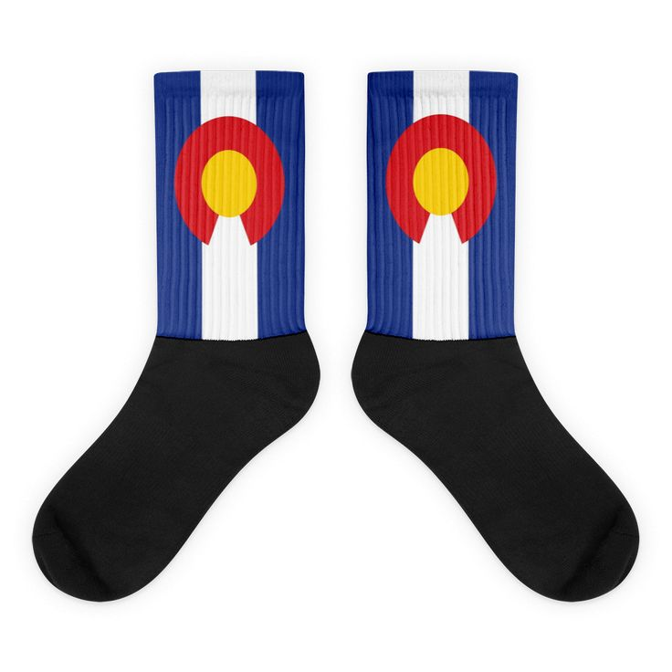Colorado Simple Black Foot Socks