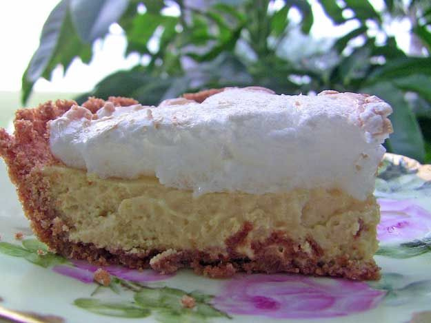 Authentic Key Lime Pie......EXCEPT for the crust.....substitute a thin, flakey pie crust for the un-authentic graham cracker crust.  (:*)