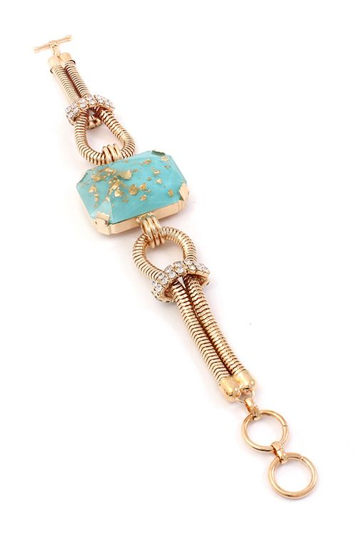 #Mint #Gold #Flake #Bracelet