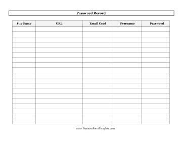 29 best Password tracker printables... images on Pinterest