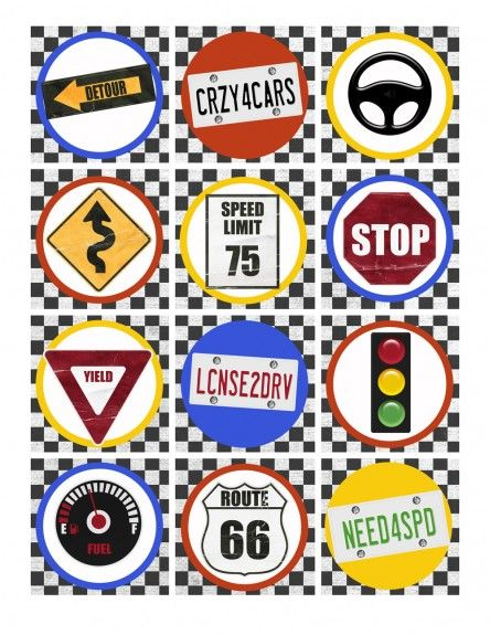 Did you know you can use printable cupcake toppers ideas for scrapbooking? Check out these cute free DIY printable traffic signs from the Hot Wheels Birthday Party Pack Free Printables