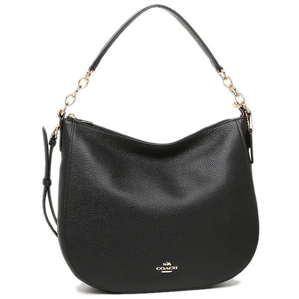 COACH HOBO CHELSEA 32 IN GLOSSY HAMMERED SKIN. #coach #bags #shoulder bags #hand bags #leather #hobo #lining #