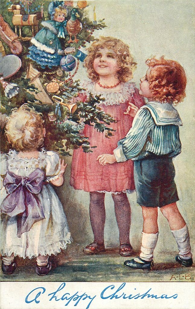 Vintage ansichtkaarten voor Kerstmis ... AL Bowley .. Discussie LiveInternet - Russische dienst Online Diaries