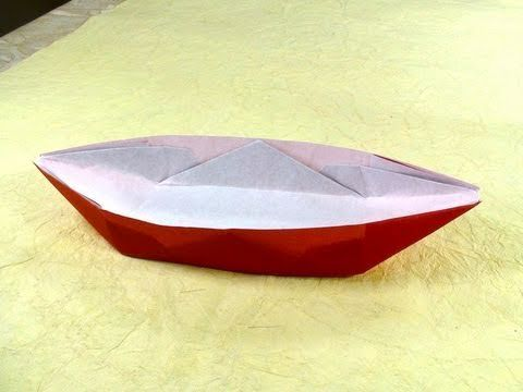 Tutorial teaching how to make an origami boat, this one is a traditional origami, easy to make but you just need to be careful with the last reverse fold.  http://www.facebook.com/pages/Tadashi-Mori/165209900157274?v=wall  Video by Tadashi Mori.