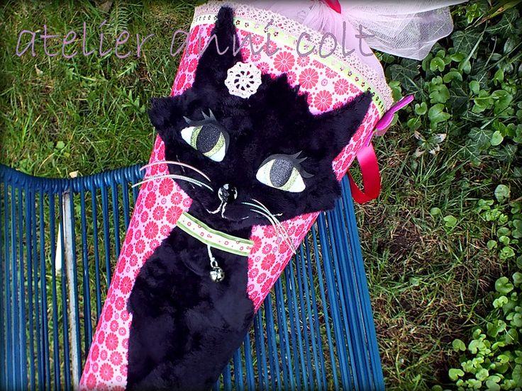 Schultüten - Schultüte Katze 85cm - ein Designerstück von annicolt bei DaWanda