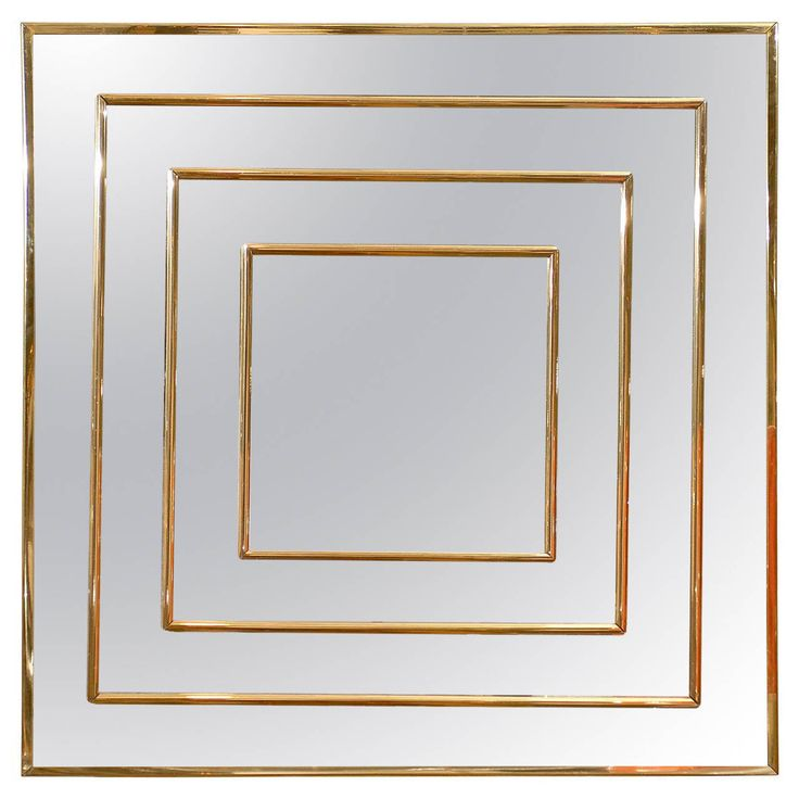 Square Brass Inlaid Mirror | See More Antique And Modern Wall Mirrors At  Http:/