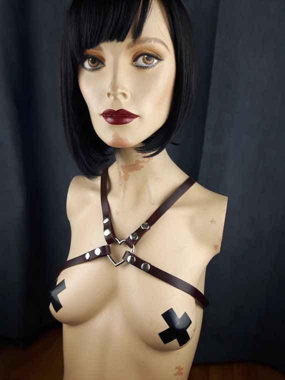 Harness Leather / Body Harness / Heart Harness by StarCreationsCa