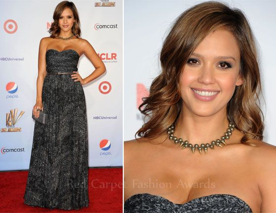 Jessica Alba In Michael Kors – 2011 ALMA Awards - Fashion Style .