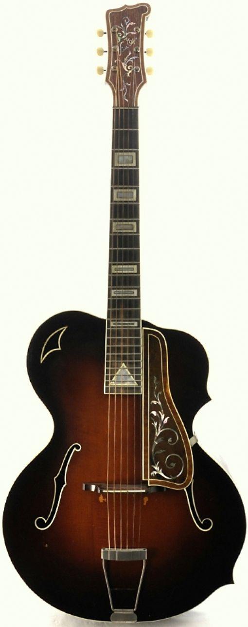 Ammon Meinel Archtop Guitar --- https://www.pinterest.com/lardyfatboy/